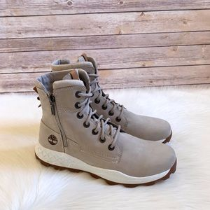 Timberland Taupe Brooklyn Side Zip Sneaker Boots
